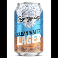 BREWGOODER Clean Water Craft Lager 330ml 4.5% ABV